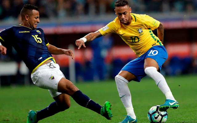"""A recovering Neymar has been selected in Brazil's 23-man World Cup squad but the injured Dani Alves has not made it - replaced by Danilo and Fagner in a list of few surprises. The only shocks were among the likely reserves for the tournament in Russia, with the inclusion of Shakhtar Donetsk midfielder Fred and winger Taison. Neymar has been recovering from right foot surgery and coach Tite admitted Neymar was one of the top three players in the world, but insisted his team didn't depend on him alone. """"We will be much stronger with Neymar doing well, but for him to do well the rest of the team has to be well, too,"""" he said. All but one of Tite's starting line-up in their World Cup qualifiers have been confirmed in the squad: Alisson; Miranda, Marquinhos and Marcelo; Casemiro, Paulinho, Renato Augusto and Philippe Coutinho; Neymar and Gabriel Jesus. Brazil's 23-man final World Cup squad Defender Alves, a veteran of two World Cups, sprained his right ACL in the French Cup final and has been replaced in the squad by Manchester City's Danilo and Corinthians' Fagner. Tite also summoned goalkeepers Ederson (Manchester City) and Cassio (Corinthians); defenders Thiago Silva, (Paris Saint-Germain) Pedro Geromel (Gremio) and Filipe Luis (Atletico Madrid); midfielders Fernandinho (Man City) and Willian (Chelsea); and strikers Roberto Firmino (Liverpool) and Douglas Costa (Juventus). The coach claimed several positions in his starting line-up are up for grabs, including up front. World Cup 2018 