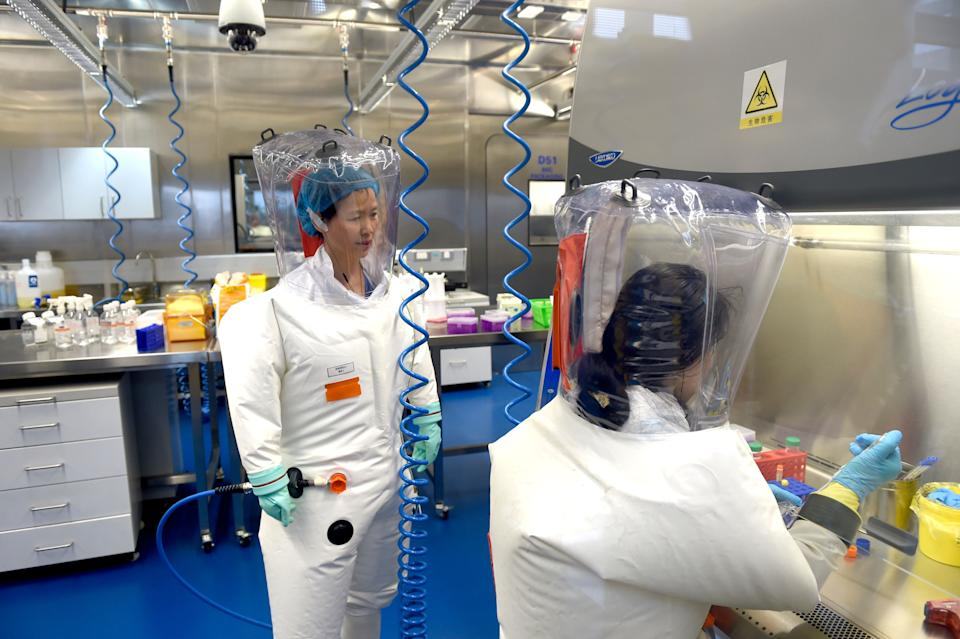 Scientists work at theWuhan Institute of Virology (Photo: Barcroft Media via Getty Images)