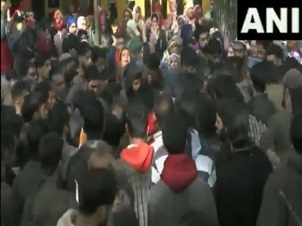 Visuals from the residence of the slain BJP worker. (Photo/ANI)