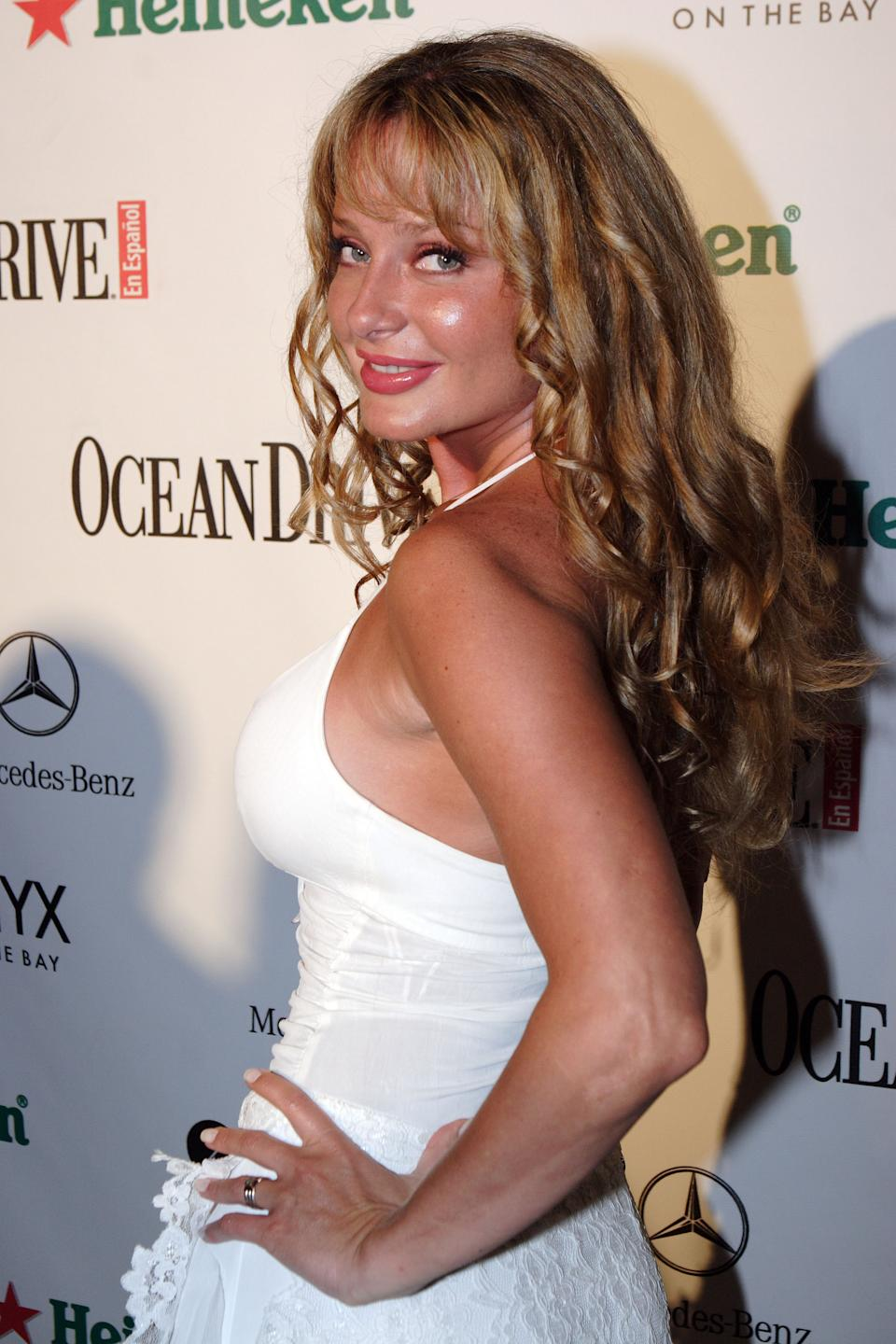 MIAMI - MAY 15:  Actress Joana Benedek poses at Ocean Drive en Espanol's 4th Anniversary Party on May 15, 2005 in Miami, Florida.  (Photo by Alberto Tamargo/Getty Images)