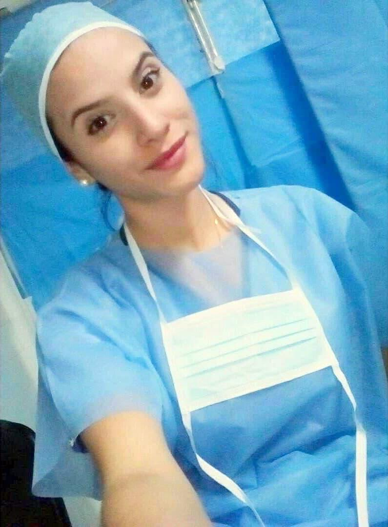 A selfie provided by Ariana Granadillo shows her when she was a medical school student in Caracas. (Ariana Granadillo via The New York Times)