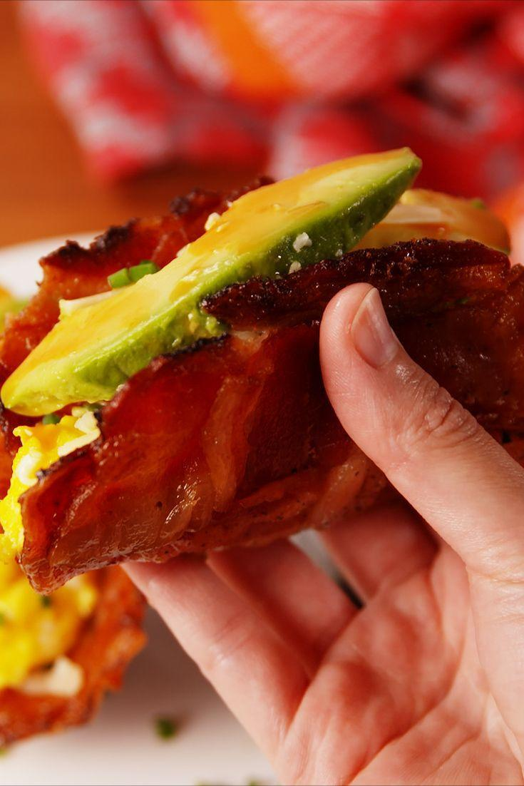 """<p>These are so good its unbe-weave-able.</p><p>Get the recipe from <a href=""""/cooking/recipe-ideas/recipes/a54272/bacon-weave-breakfast-tacos/"""" data-ylk=""""slk:Delish"""" class=""""link rapid-noclick-resp"""">Delish</a>.</p>"""