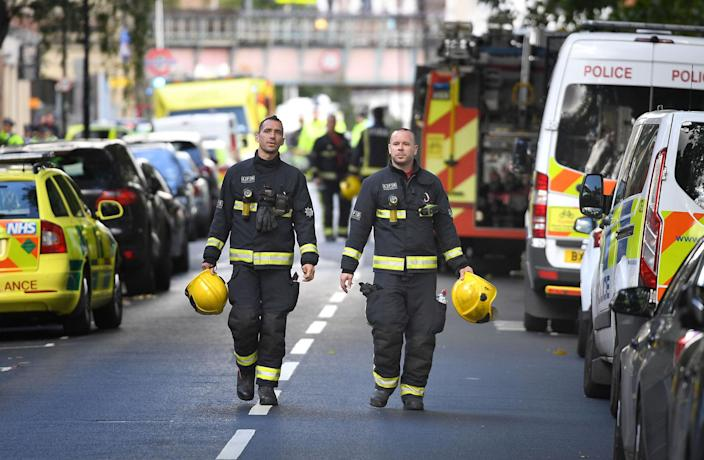 """<em>'Fireball' – the blast was said to have sent a """"wall of flame"""" through the packed London Underground train (Picture: Stefan Rousseau/PA Wire)</em>"""