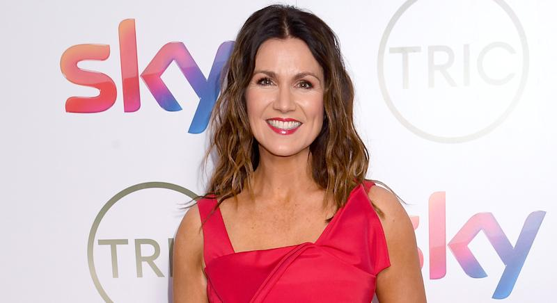 Susanna Reid wears printed Joules dress on GMB, and it is now on sale. (Getty Images)