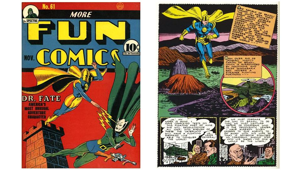 The early '40s adventures of Doctor Fate, in the pages of More Fun Comics.
