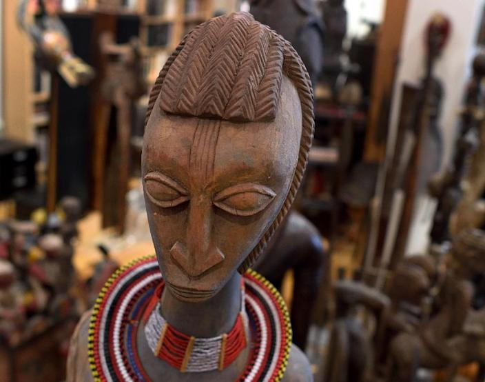 African art collector Eric Edwards wants to exhibit his collection in Brooklyn, the increasingly desirable New York borough that is home to one of the most concentrated African American communities in the US (AFP Photo/Don Emmert)