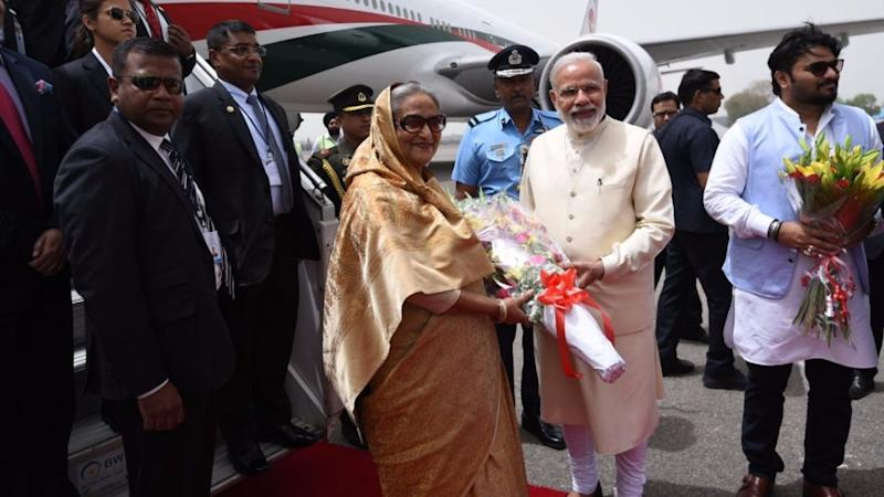 Live: Modi Breaks Protocol and Receives Sheikh Hasina at Airport