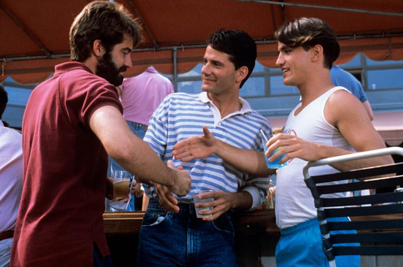 "From left: Stephen Caffrey, Campbell Scott and Dermot Mulroney in ""Longtime Companion."" (Photo: Mondadori Portfolio via Getty Images)"