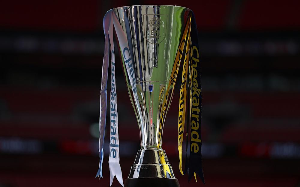 The Checkatrade trophy is seen prior to the EFL Checkatrade Trophy Final between Coventry City v Oxford United at Wembley Stadium - Credit: Getty Images