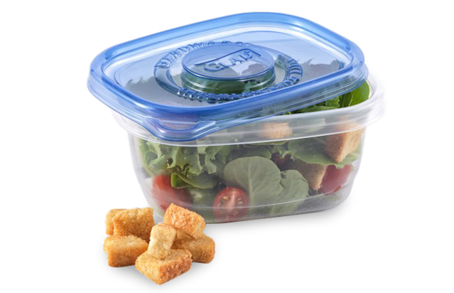 Glad Soup & Salad container, <span>$2.75 for five on Amazon</span>