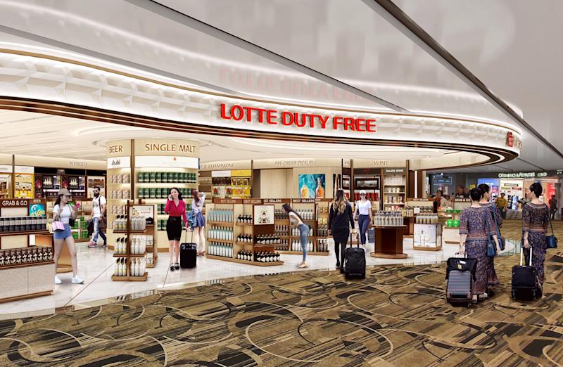 Lotte takes over as liquor and tobacco concessionaire at Changi Airport on 9 June 2020.