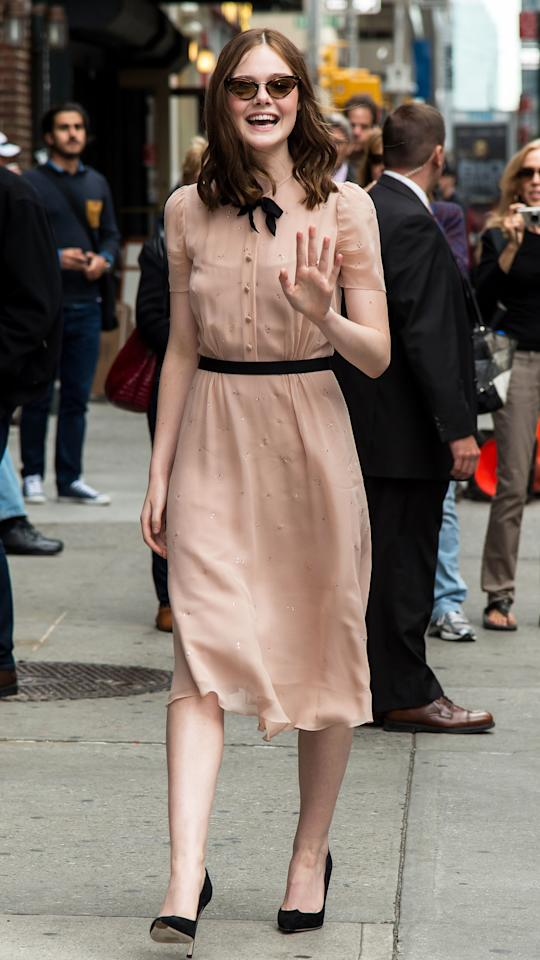 <p>Arriving for an appearance on the <em>The Late Show with David Letterman. </em></p>