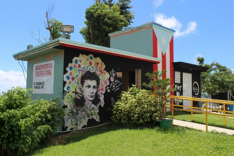 A mural on a building of a self-help community program in the Mariana neighborhood in the city of Humacao, Puerto Rico