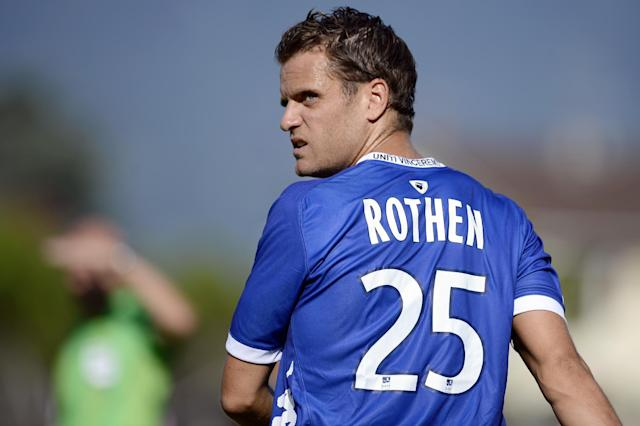 Bastia's French midfielder Jerome Rothen is pictured during the friendly football match Evian Thonon Gaillard vs Bastia on July 24, 2012, at the Salvator Mazzeo stadium in the French eastern city of Gaillard (AFP Photo/Jeff Pachoud)