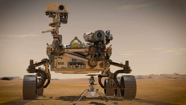 PHOTO: Perseverance is the most sophisticated rover NASA has ever sent to Mars. Ingenuity, a technology experiment, will be the first aircraft to attempt controlled flight on another planet. (JPL-Caltech/NASA)