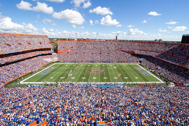 A general view of Ben Hill Griffin Stadium in Gainesville, Florida. (Photo by Rob Foldy/Getty Images)