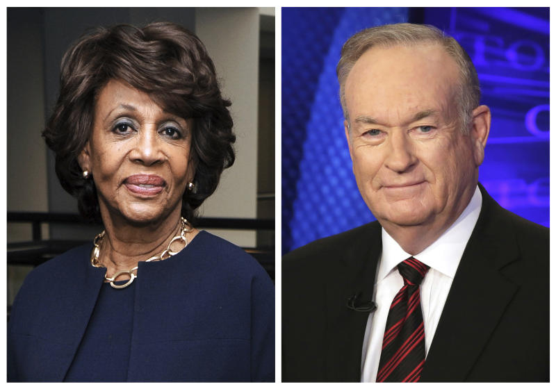 US Rep. Maxine Waters: Bill O'Reilly 'needs to go to jail'