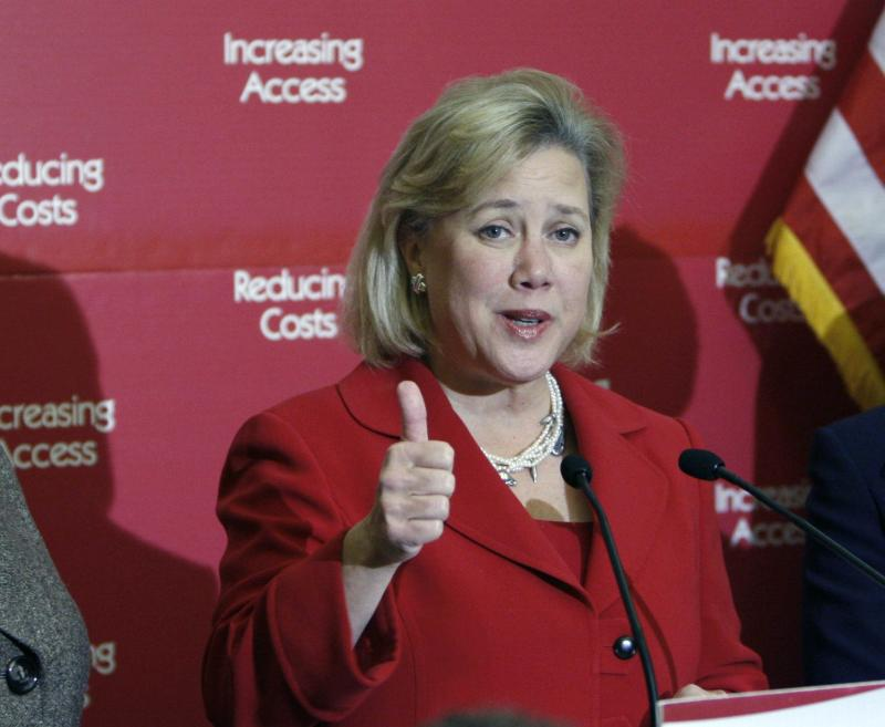FILE - In this Dec. 9, 2009, file photo, Sen. Mary Landrieu, D-La., speaks at a health care news conference on Capitol Hill in Washington. Far from reversing course, Senate Democrats who backed President Barack Obama's health care law and now face re-election in GOP-leaning states are reinforcing their support for the overhaul even as Republicans intensify their criticism. Mark Begich of Alaska, Mark Pryor of Arkansas, Landrieu of Louisiana and Kay Hagan of North Carolina will face voters in 2014 for the first time since voting for the Affordable Care Act _ commonly called Obamacare _ three years ago.  (AP Photo/Pablo Martinez Monsivais, File)