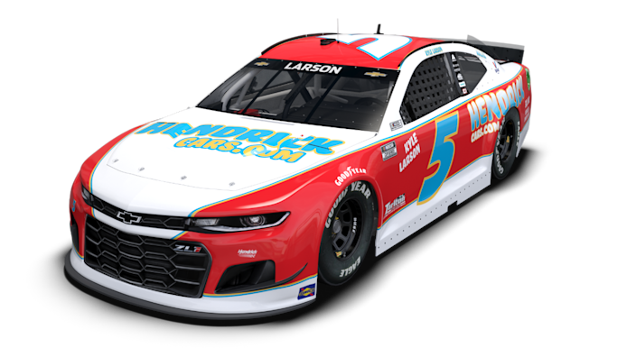 NASCAR driver Kyle Larson will race the No. 5 HendrickCars.com Chevrolet for the Throwback weekend at Darlington.