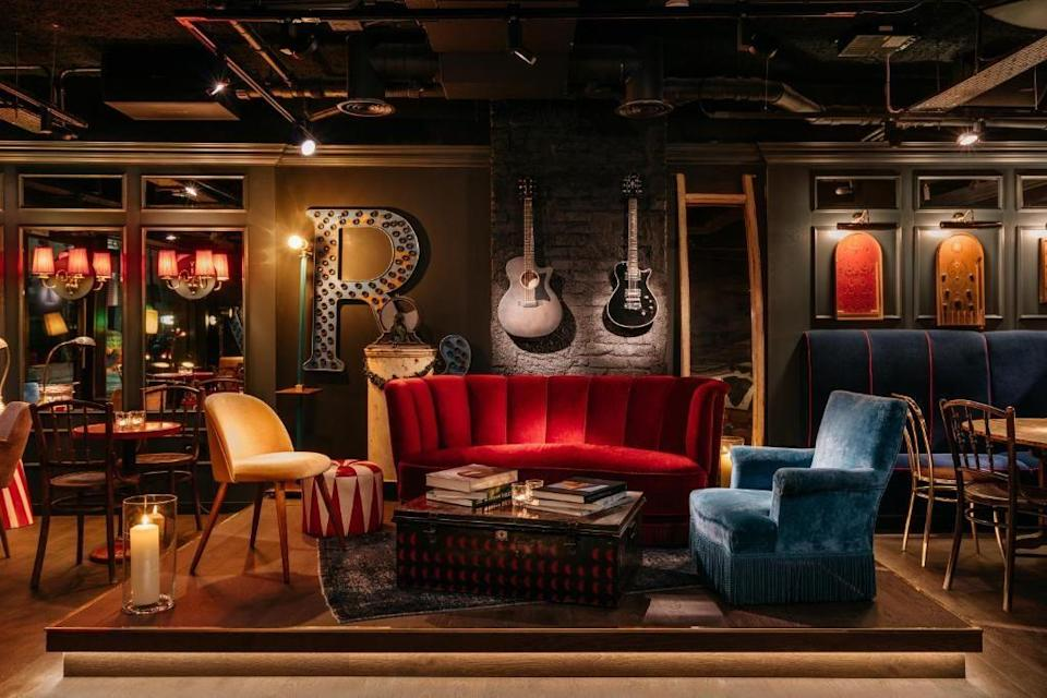 """<p>This quirky design hotel on London's South Bank is a newcomer to the boutique hotel scene but channels some serious old-world charm.</p><p><a href=""""https://go.redirectingat.com?id=127X1599956&url=https%3A%2F%2Fwww.booking.com%2Fhotel%2Fgb%2Fruby-lucy-london.en-gb.html%3Faid%3D2070929%26label%3Dlondon-boutique-hotels&sref=https%3A%2F%2Fwww.redonline.co.uk%2Ftravel%2Fg504719%2Fboutique-hotels-london%2F"""" rel=""""nofollow noopener"""" target=""""_blank"""" data-ylk=""""slk:Ruby Lucy"""" class=""""link rapid-noclick-resp"""">Ruby Lucy</a> took inspiration from the fly-by-night world of markets and fairgrounds to bring a little carnival magic to the capital. You'll find rich, dark tones that meet bright brass accents and subtle stripes set off by circus drums and juggling pins.</p><p>The rooms boast big, comfy beds, rainfall showers and Marshall amps, while the bar is the spot for unusual cocktails and Italian-inspired snacks.</p><p><a class=""""link rapid-noclick-resp"""" href=""""https://go.redirectingat.com?id=127X1599956&url=https%3A%2F%2Fwww.booking.com%2Fhotel%2Fgb%2Fruby-lucy-london.en-gb.html%3Faid%3D2070929%26label%3Dlondon-boutique-hotels&sref=https%3A%2F%2Fwww.redonline.co.uk%2Ftravel%2Fg504719%2Fboutique-hotels-london%2F"""" rel=""""nofollow noopener"""" target=""""_blank"""" data-ylk=""""slk:CHECK AVAILABILITY"""">CHECK AVAILABILITY</a></p>"""