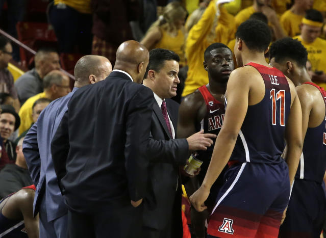 Arizona head coach Sean Miller (AP Photo/Rick Scuteri)