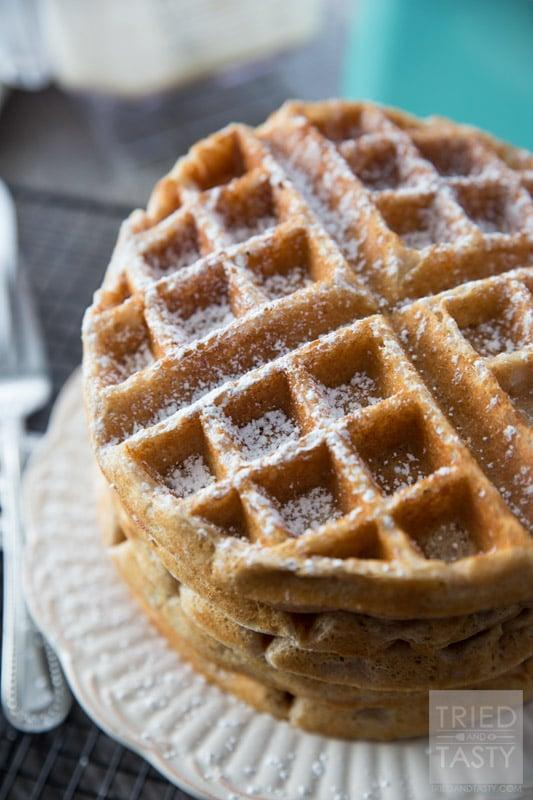 """<p>The addition of whole wheat flour and Greek yogurt gives these ordinary <a href=""""http://triedandtasty.com/whole-wheat-greek-yogurt-waffles/"""" class=""""link rapid-noclick-resp"""" rel=""""nofollow noopener"""" target=""""_blank"""" data-ylk=""""slk:waffles"""">waffles</a> a healthy and satisfying twist - plus, they're all made in the blender, so they're minimal clean-up.</p>"""
