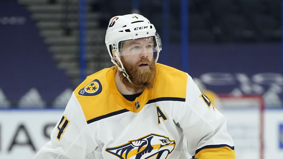 Nashville Predators defenseman Ryan Ellis (4)