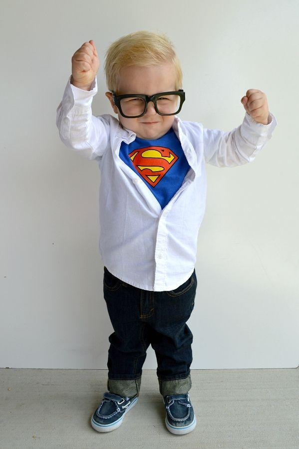 """<p>We love a <a href=""""https://www.countryliving.com/diy-crafts/g21345654/diy-superhero-costumes/"""" rel=""""nofollow noopener"""" target=""""_blank"""" data-ylk=""""slk:good superhero costume"""" class=""""link rapid-noclick-resp"""">good superhero costume</a>, but this undercover look is even easier to pull off. It's a bird, it's a plane, it's your toddler dressed up as Clark Kent!</p><p><strong>Get the tutorial at <a href=""""http://takingcareofmonkeybusiness.com/blog/2015/09/25/diy-clark-kent-costume/"""" rel=""""nofollow noopener"""" target=""""_blank"""" data-ylk=""""slk:Taking Care of Monkey Business"""" class=""""link rapid-noclick-resp"""">Taking Care of Monkey Business</a>.</strong></p><p><strong><a class=""""link rapid-noclick-resp"""" href=""""https://www.amazon.com/gp/product/B00A2UUESG/?tag=syn-yahoo-20&ascsubtag=%5Bartid%7C10050.g.4975%5Bsrc%7Cyahoo-us"""" rel=""""nofollow noopener"""" target=""""_blank"""" data-ylk=""""slk:SHOP SUPERMAN SHIRT"""">SHOP SUPERMAN SHIRT</a></strong></p>"""