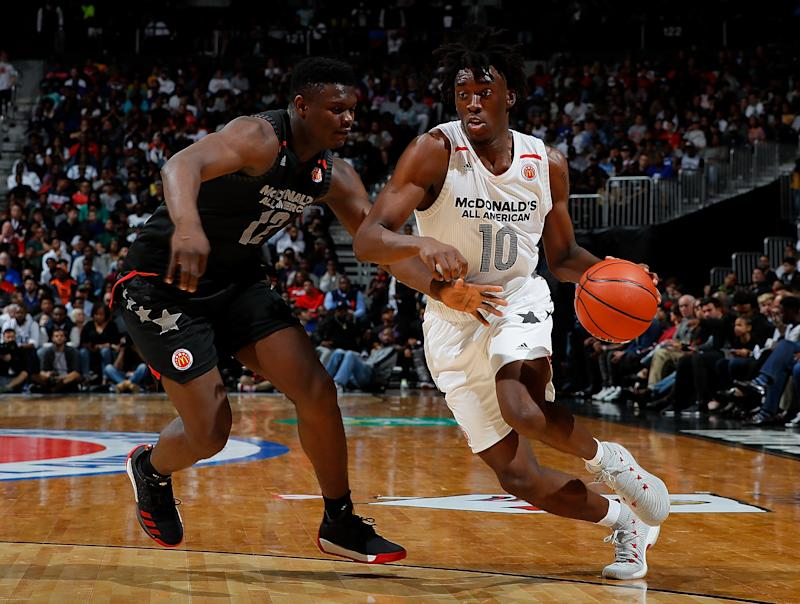 0193294c6035 UNC-bound Nassir Little earns McDonald s All-American MVP  Zion Williamson  hurts hand