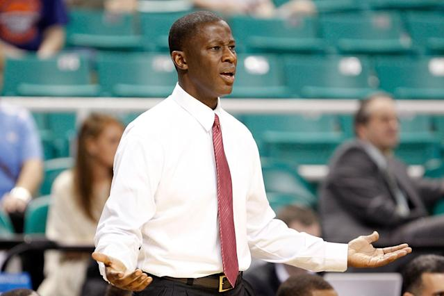 Head coach Anthony Grant of the Alabama Crimson Tide shouts from the sidelines against the Creighton Bluejays during the second round of the 2012 NCAA Men's Basketball Tournament at Greensboro Coliseum on March 16, 2012 in Greensboro, North Carolina. (Photo by Streeter Lecka/Getty Images)