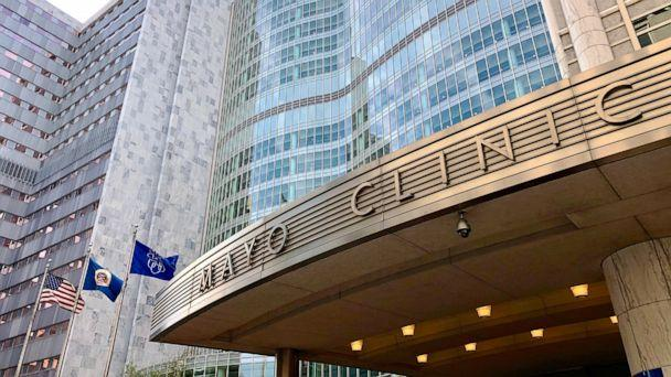 PHOTO: Saint Mary's Hospital part of the Mayo Clinic is located in Rochester, Minn., Sept., 29, 2020. (Kerem Yucel/AFP via Getty Images, FILE)