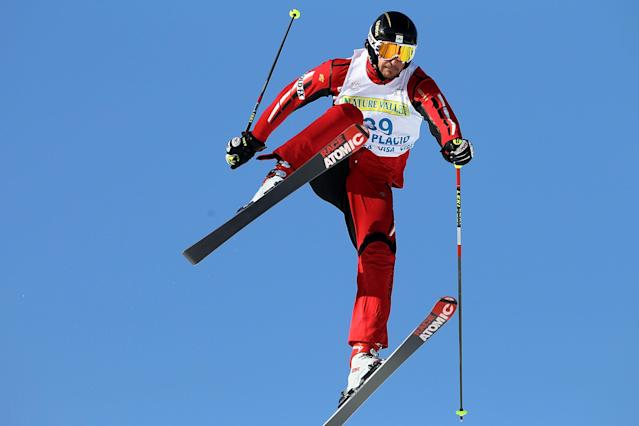 Canada's Nick Zoricic, seen here competing in 2010, has died competing in a ski cross World Cup event in Grindelwald. (AFP Photo/Streeter Lecka)