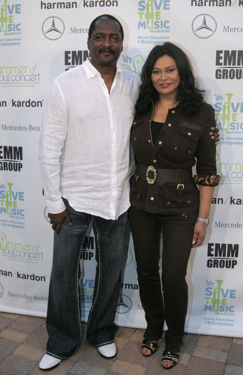 Matthew Knowles and Tina Knowles arrive at the VH1 Save The Music Foundation Summer of Soul Concert in Watermill, N.Y., Friday, July 18, 2008. (AP Photo/Ed Betz)