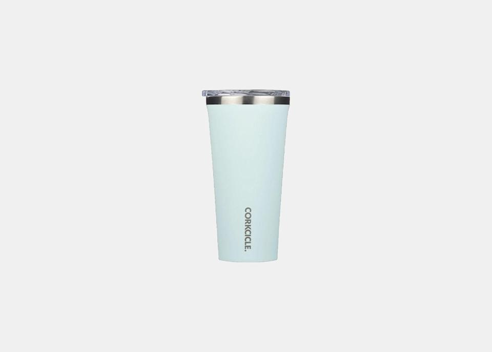 """Your coffee cup is almost as important as what's inside. An insulated tumbler is essential to keep drinks at the perfect temperature—this one keeps drinks cold for more than nine hours and hot for three, plus, it is easy to grip and the lid is shatter-proof. Available in almost 30 colors and several sizes, Corkcicle's Classic Tumbler is an everyday must-have that any coffee regular will appreciate. $30, Corkcicle. <a href=""""https://corkcicle.com/collections/classic-collection?collection=tumblers&product=46065516559&variant=33707434901592"""" rel=""""nofollow noopener"""" target=""""_blank"""" data-ylk=""""slk:Get it now!"""" class=""""link rapid-noclick-resp"""">Get it now!</a>"""