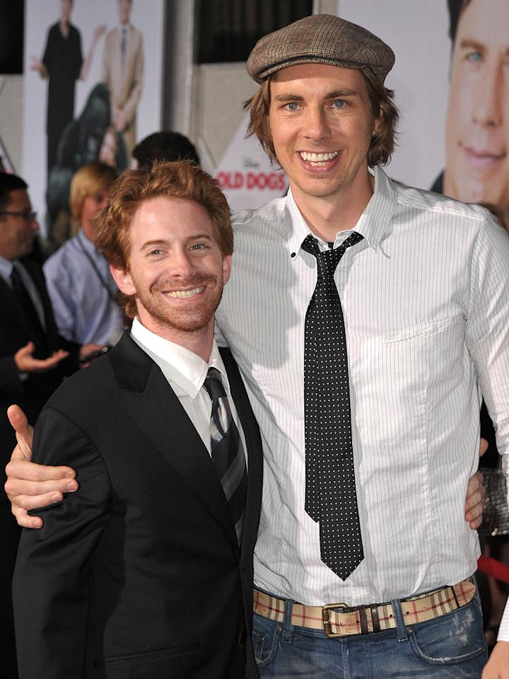 """<a href=""""http://movies.yahoo.com/movie/contributor/1800018683"""">Seth Green</a> and <a href=""""http://movies.yahoo.com/movie/contributor/1808523289"""">Dax Shepard</a> at the Los Angeles premiere of <a href=""""http://movies.yahoo.com/movie/1809918087/info"""">Old Dogs</a> - 11/09/2009"""