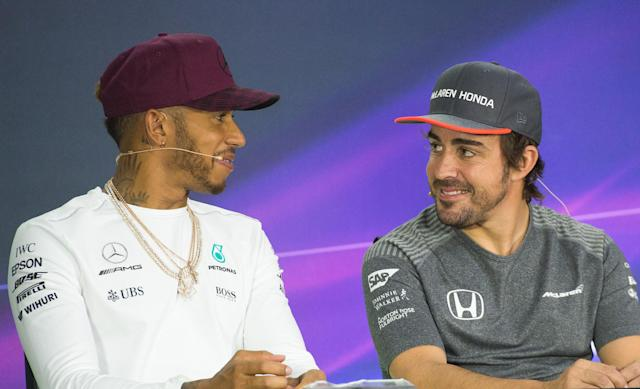 Lewis Hamilton and Fernando Alonso (Credit: Getty Images)