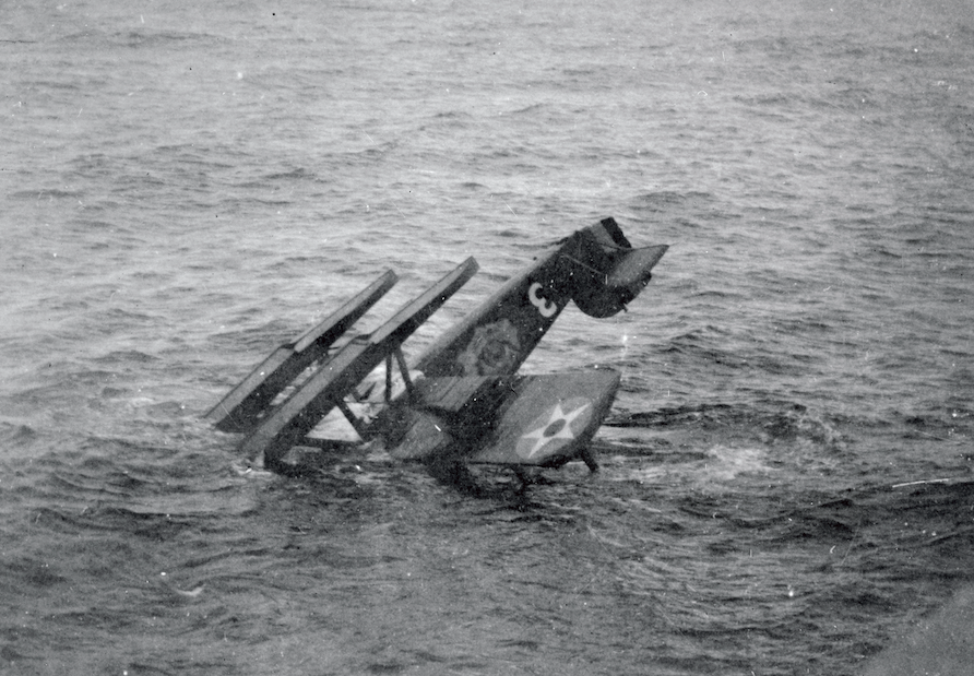 The 'Boston' plane capsized and sank between Scotland and the Faroe Islands during the US team's attempt to fly around the world in 1924. (Getty Images)