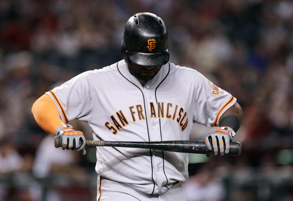 It was a tough year for Pablo Sandoval and the Giants. (Photo by Ralph Freso/Getty Images)