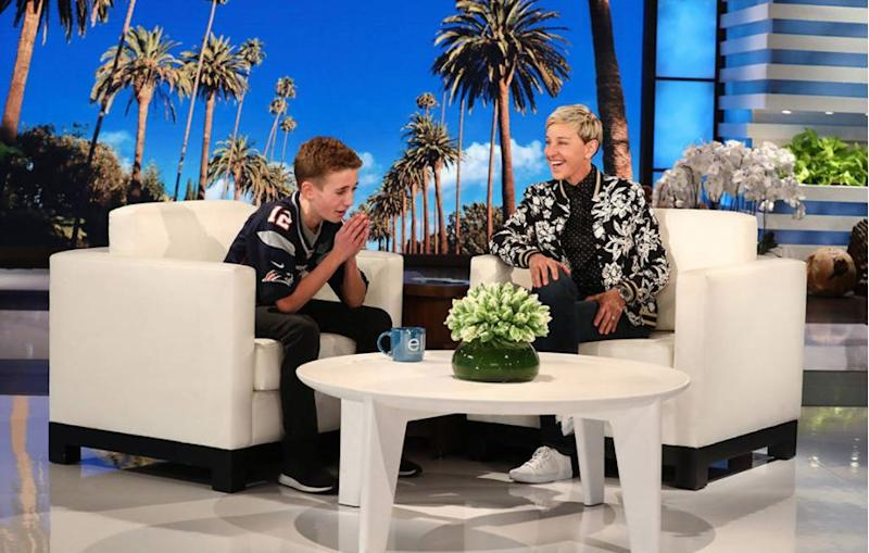 Ryan McKenna, aka Selfie Kid, was on Ellen DeGeneres' show.