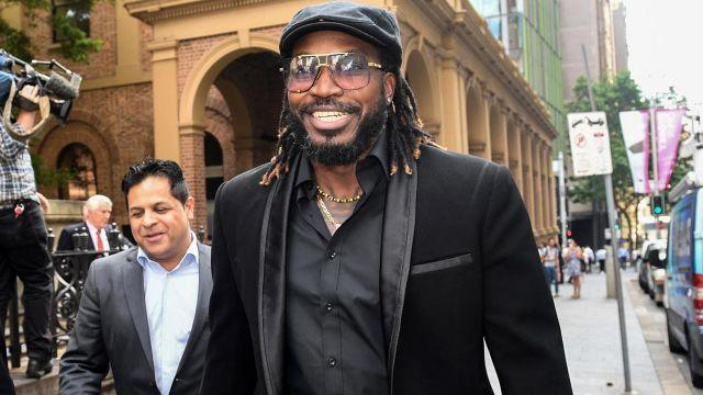 Gayle outside court. Image: AAP