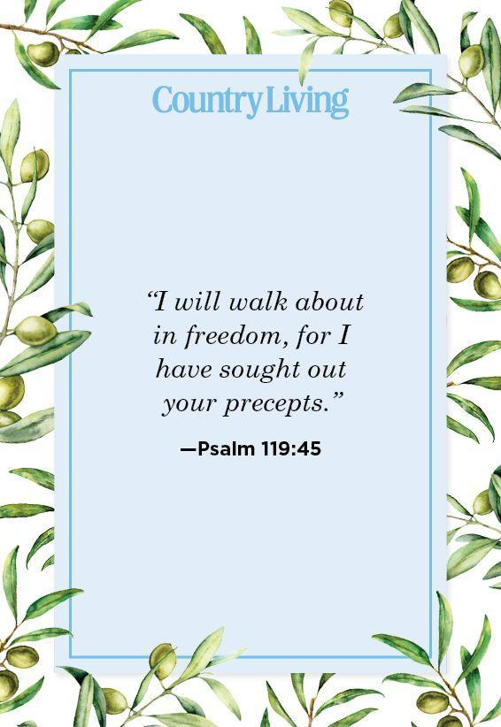 """<p>""""I will walk about in freedom, for I have sought out your precepts.""""</p>"""