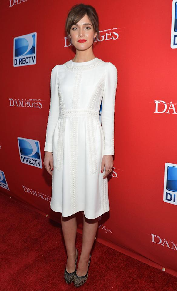 "Rose Byrne attends The DirecTV premiere for the fifth and final season of ""Damages"" at Paris Theater on June 28, 2012 in New York City."