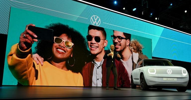 VW, which presented its ID.Life electric car at the International Motor Show in Munich, aims to become the world's largest electric carmaker by 2025 (AFP/Christof Stache)