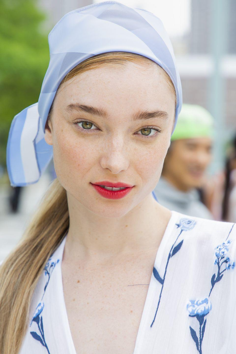 """<p>Makeup artist Kelli J. Bartlett for Glamsquad created the lip at Lela Rose by layering several products. She start edwith MAC Lasting Sensation Lip Pencil traced all over the lip, then added a layer of MAC Cherry Lip Pencil to just the center of the lip, blurring everything together with a brush.</p><p><a rel=""""nofollow noopener"""" href=""""https://shop.nordstrom.com/s/mac-lip-pencil/2791386"""" target=""""_blank"""" data-ylk=""""slk:SHOP"""" class=""""link rapid-noclick-resp"""">SHOP</a></p>"""