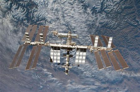 The International Space Station is seen in this NASA handout