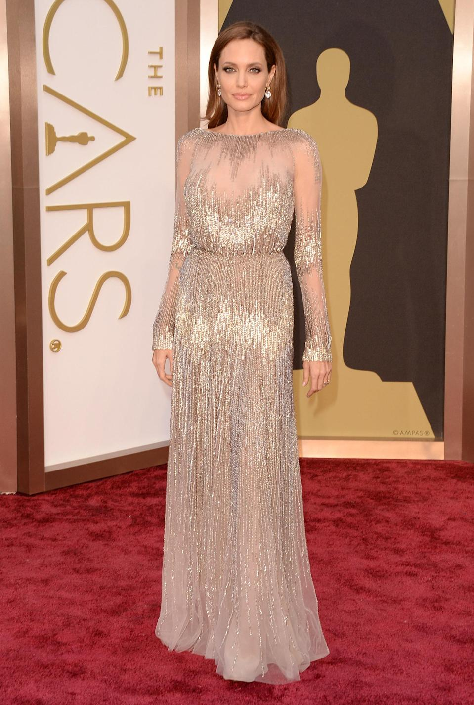 <p>Wearing Elie Saab. <em>[Photo: Getty]</em> </p>
