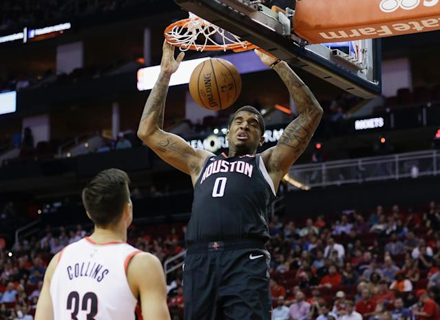 "<a class=""link rapid-noclick-resp"" href=""/nba/players/5639/"" data-ylk=""slk:Marquese Chriss"">Marquese Chriss</a> hasn't had many opportunities with Houston this season. (Getty Images)"