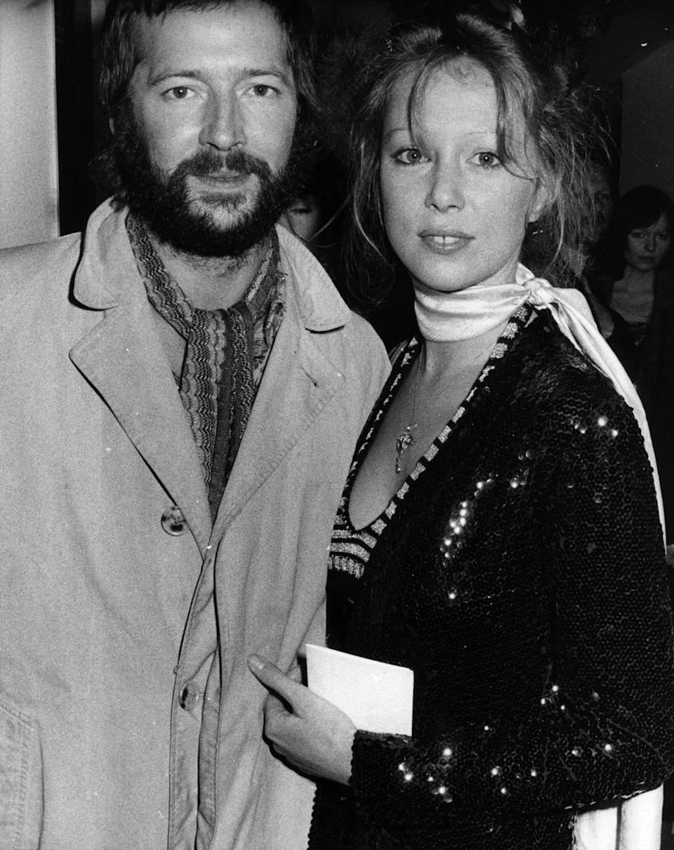 """<p>Eric Clapton <a href=""""http://ultimateclassicrock.com/eric-clapton-marries-pattie-boyd/"""" rel=""""nofollow noopener"""" target=""""_blank"""" data-ylk=""""slk:married"""" class=""""link rapid-noclick-resp"""">married</a> his best friend George Harrison's ex-wife, Pattie Boyd. Clapton and Boyd tied the knot on March 27, 1979 although the marriage didn't last. Clapton's infidelity caused them to divorce on 1988. </p>"""