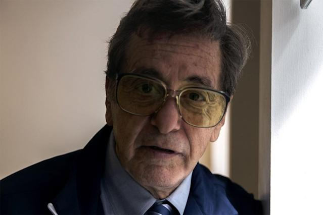 Through the underappreciated magic of makeup and costume design, Al Pacino has been transformed into Joe Paterno incarnate, ready to grab a clipboard and patrol the sidelines once more.