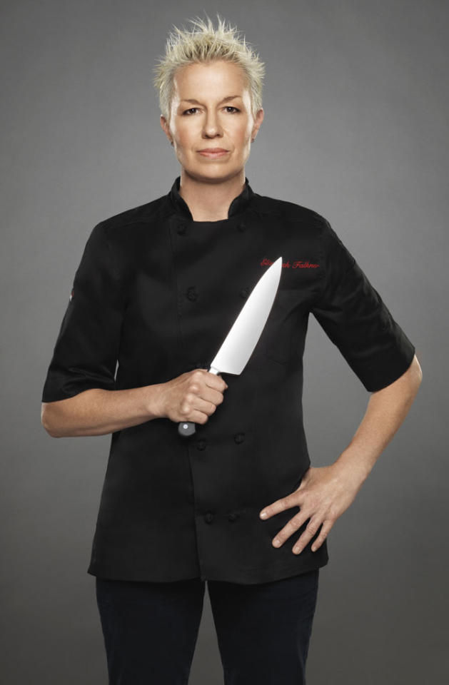 "Chef Elizabeth Falkner is competing on the new season of ""The Next Iron Chef,"" premiering Sunday, 11/4 at 9 PM on Food Network."